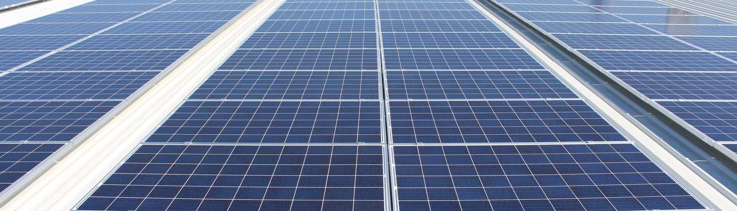 installed photovoltaic  panels