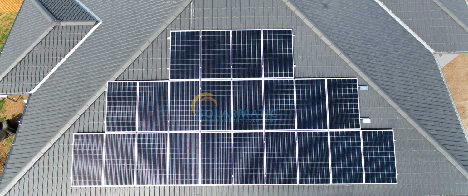 Installed solar power view from top