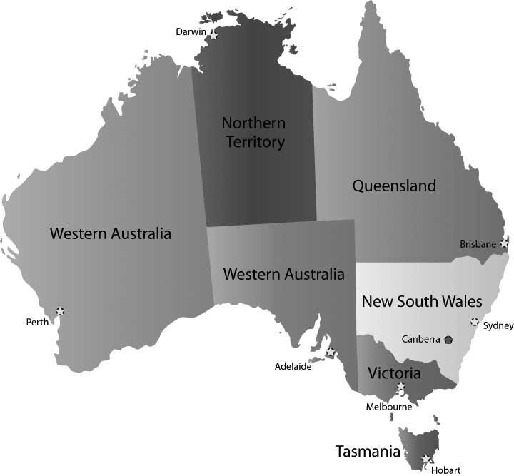 Australia's Political map