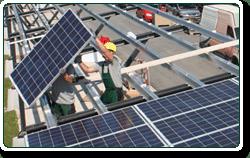Commercial solar carports installation