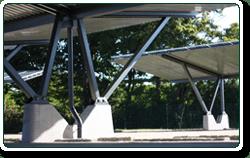 Commercial solar carport design
