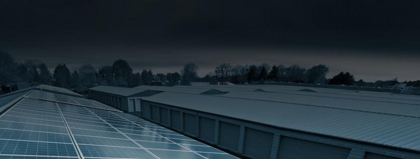 Large scale solar panel installation