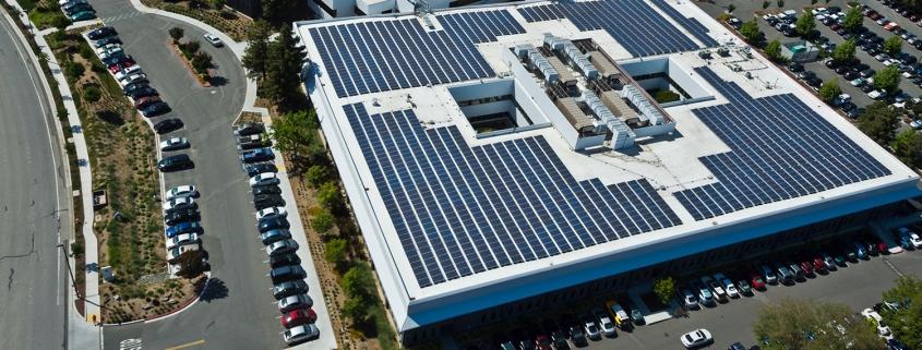 Commercial Solar Installation display
