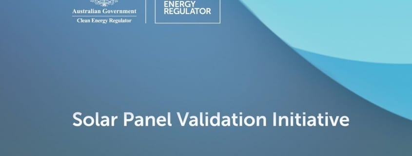 Solar panel validation initiative by CER