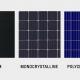 monocrstalline vs polycrystalline -solar panels types